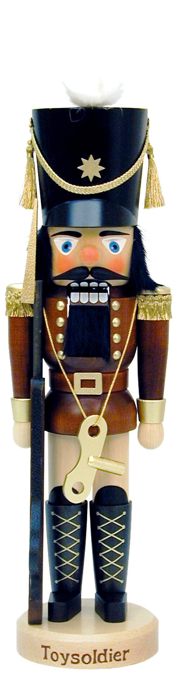 """One Kings Lane - The Nutcracker Suite - 18"""" Toy Soldier Nutcracker by Christian Ulbricht. I have two Christian Ulbricht and love them, because of the natural wood look to them."""