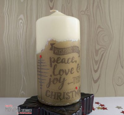{Mixed Media Tutorial} Festive Candle by Monika
