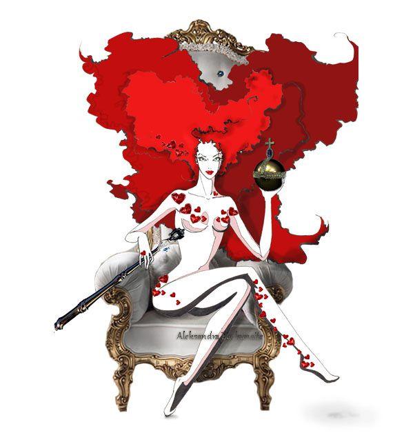 """the Queen of Hearts"" by Aleksandra Backunaite."