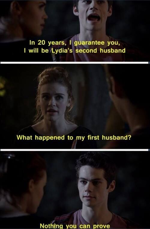 Lol I died stiles and lydia humour teen wolf