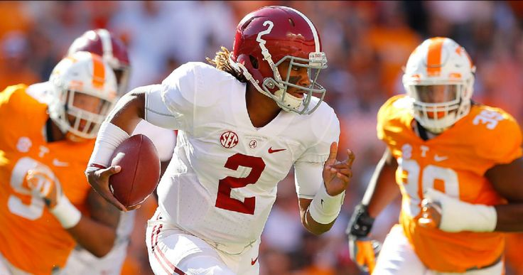 QB Jalen Hurts during a Tennessee ass whooping, 2016