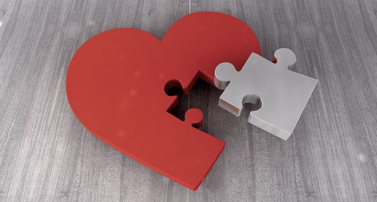 Heart, Puzzle, Joining Together, Puzzle Piece