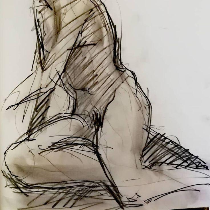 Kohle Und Aquarell Auf Papier Skizze Art Art Kunst Kunstler