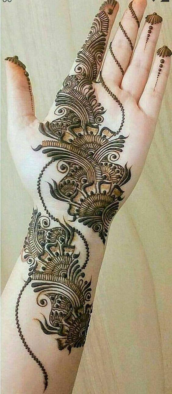 mehndi designs full hand left