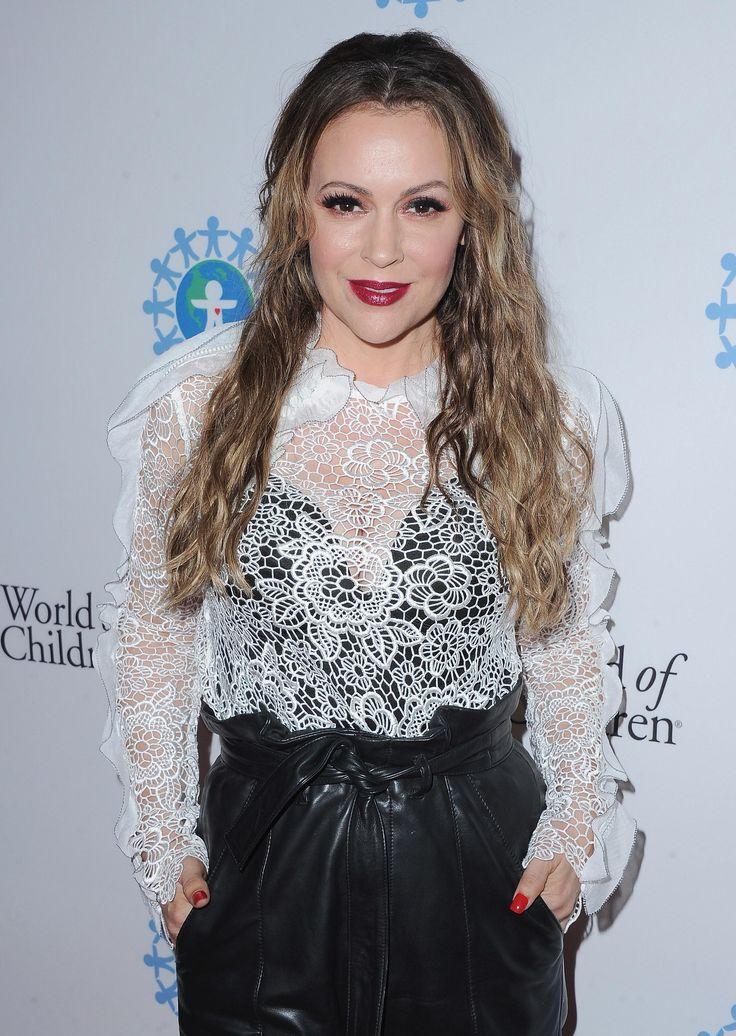 Alyssa Milano attends World Of Children Hero Awards