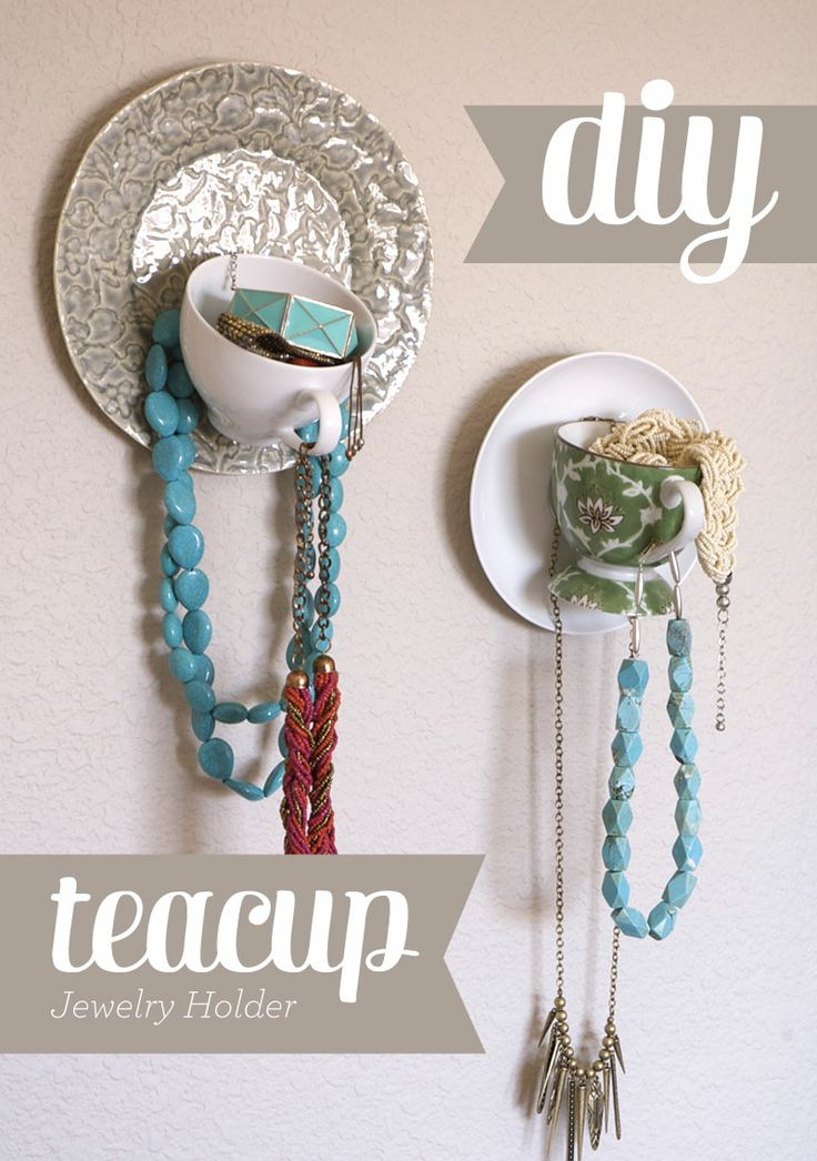 Lynn + Lou: DIY for Teacup Jewelry Display