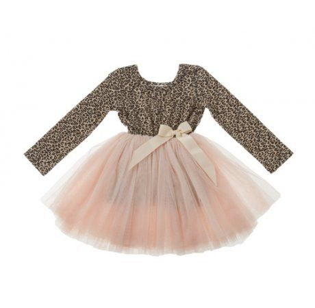 Designer Kidz Miss Pussycat Tutu - Long Sleeve Price: $ 49.95  Divine Miss Pussycat Tutu by Designer Kidz!  Your little miss will adore this super sweet, playful and terribly chic tutu dress!  Perfect for a lunch date or a special occasion - features long sleeves, animal print bodice and multi layer tulle skirt