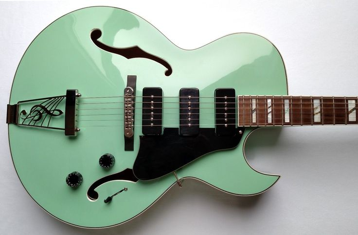 For sale is a beautiful, Dean Palomino archtop in Sea Green! It's in great, used condition, with some pick marks, scratches/buckle rash and a few small dings and dents (the most notable on the back of the neck). | eBay!