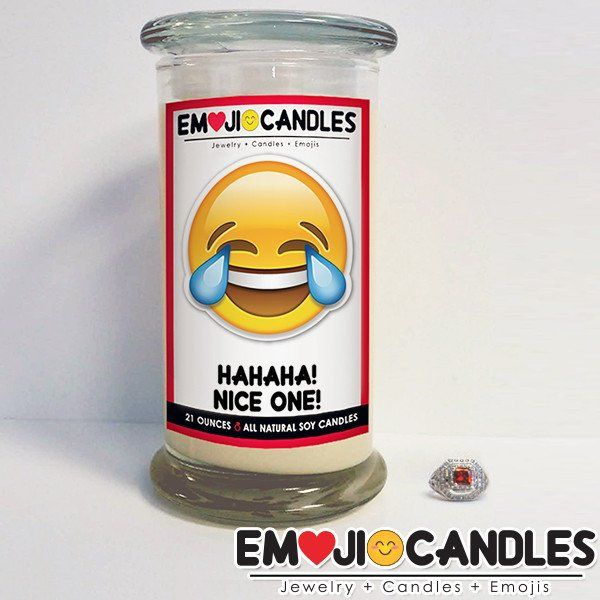 Hahaha! Nice One! - Emoji Jewel Candles. Add a little fun & personal touch to your gift.. with an Emoji Candle! Yes, the Emojis everyone loves now has a candle that will make everyone smile!
