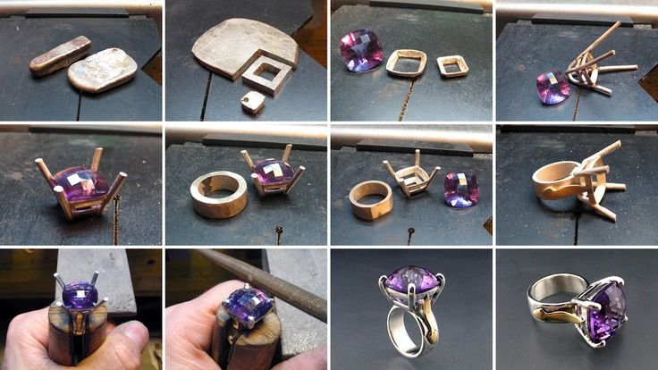 A beautiful 16mm cushion shaped square amethyst that Zhang brought from his last visit from Madagascar. Set in silver with details in 18k. ...