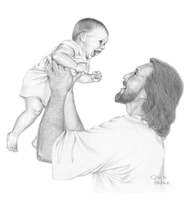 This drawing represents our relationship with Jesus Christ, which results in a joy that is reciprocated and mutually shared. Description from jeankeatonart.com. I searched for this on bing.com/images
