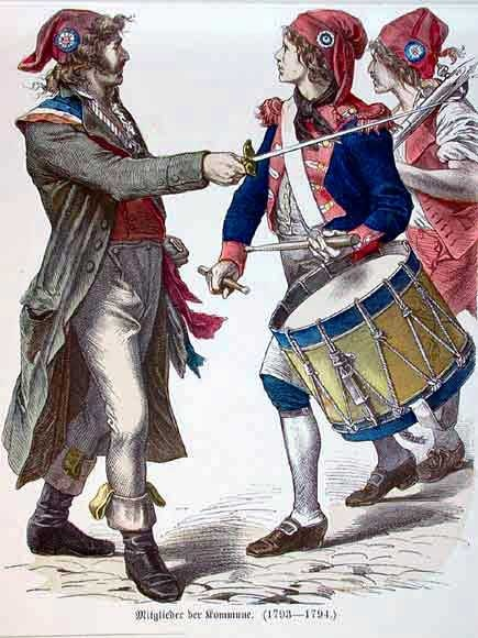 In the French Revolution, the sans-culottes were radical left-wing partisans of the lower classes; typically urban laborers, which dominated France.