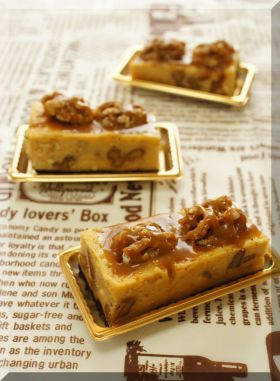 「【クルミ】のキャラメルチーズケーキ♪」cherry♪ | お菓子・パンのレシピや作り方【corecle*コレクル】