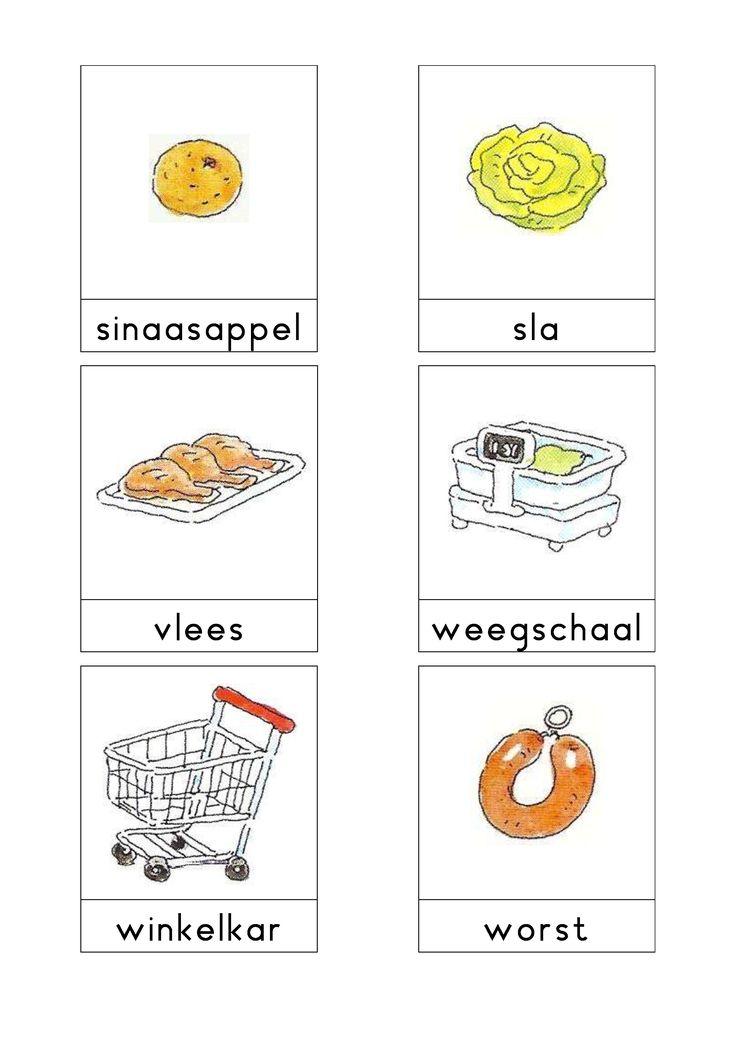 Woordkaarten Bas 'De supermarkt' 3