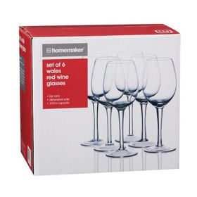 Set of 6 Wales Red Wine Glasses