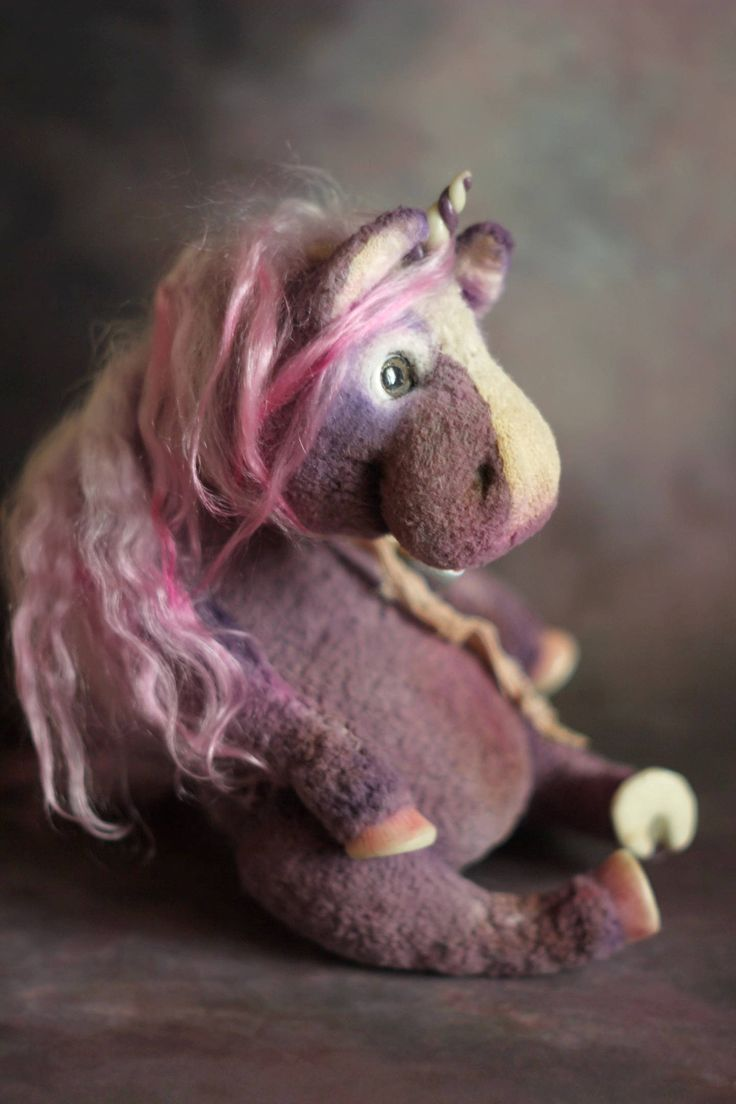 Made to order Unicorn toy stuffed toy from viscose fabric ooak doll horse toy unique doll softie plush horse fantasy toy unicorn horse