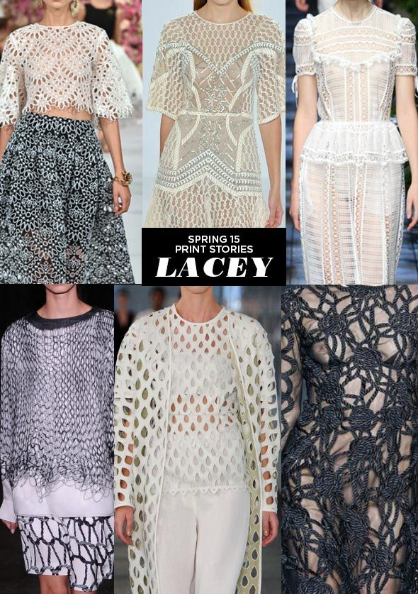 Lacey - Runway | SS15 Print Stories We have lots of lace for Spring!