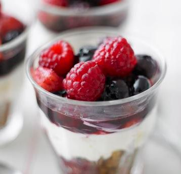 Hungry but in a hurry? This easy berrylicious cheesecake can be whipped-up in a flash.