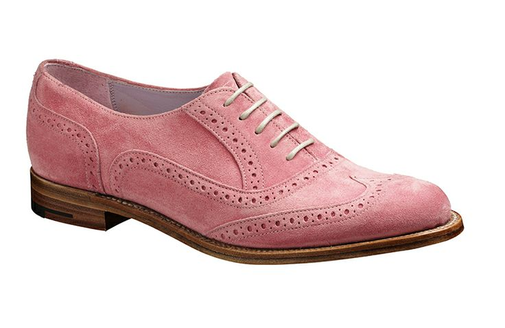 Barker Freya  Womens barker brogue wingtip in pink suede  http://www.robinsonsshoes.com