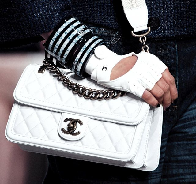 Chanel Cruise 2013 Handbags   Just add this to the list of my wants …. want really bad  white Chanel Bag