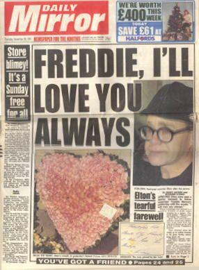 Freddie Mercury Funeral | Nov 28th 1991 Daily Mirror coverage of Freddie's funeral