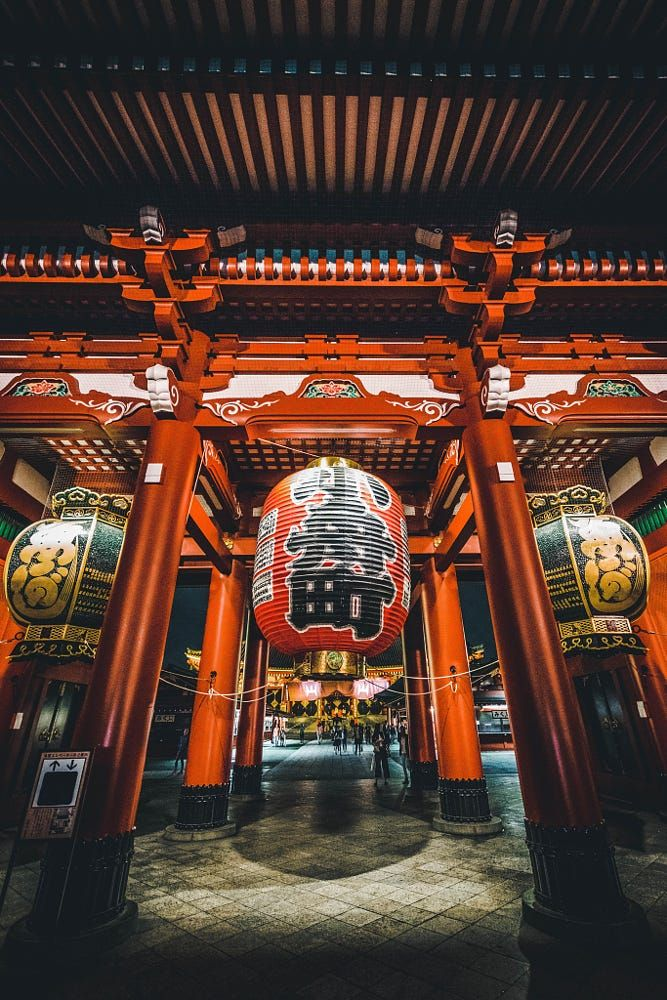 Shrine in Asakusa, Tokyo. Japan