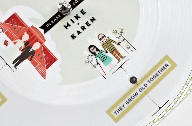 A Paper Record Player Invitation