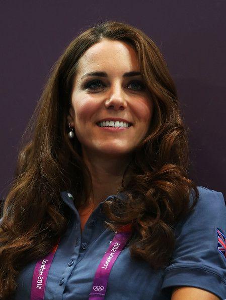 Catherine, Duchess of Cambridge looks on during the Women's Handball Preliminaries