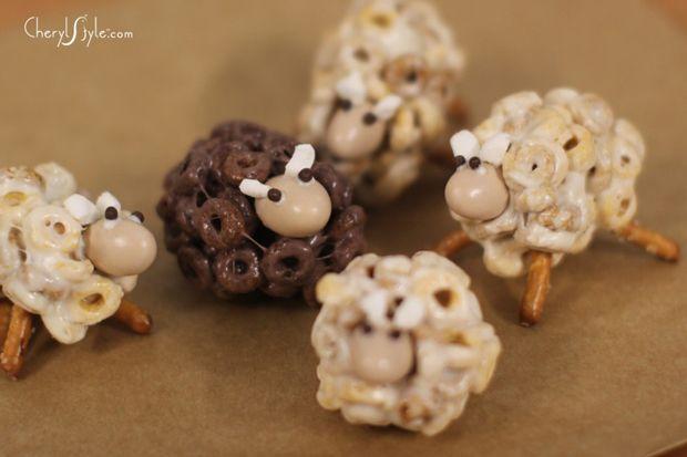 cute cheerio sheep