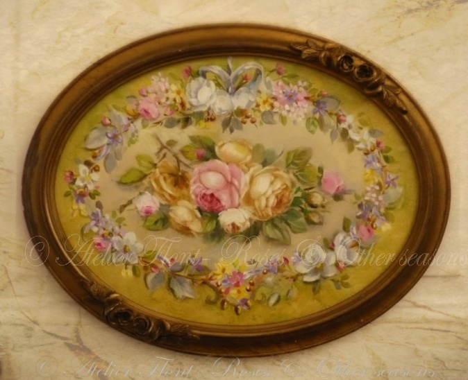 Ovale aux roses aubusson © Atelier Flont- Roses & Other seasons http://laboutique-atelier-flont.blogspot.fr/