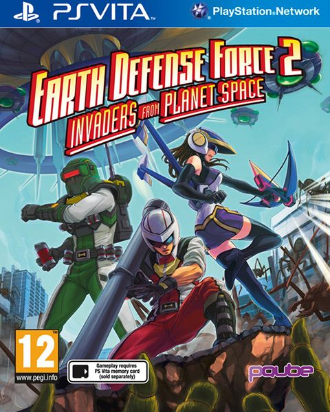 Earth Defense Force 2: Invaders from Planet Space is an expanded remake of the second entry in the acclaimed action series. Publisher: pQube Developer: Sandlot Genre: Action Platform: PS Vita Release Date: 19/02/2016 #videogames #psvita #action #pQube #Sandlot