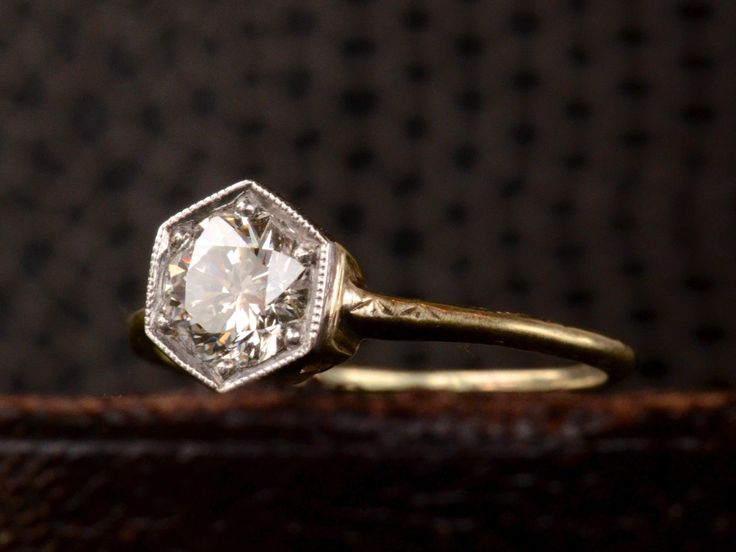 1920s 0 72ct Diamond Hexagonal Ring Erie Basin A Girl