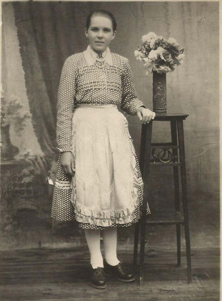 Hungarian girl in 1950's Balavásár/Balauseri, Transylvania