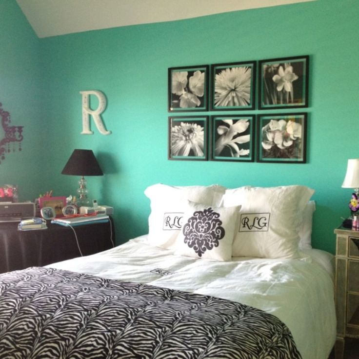 15 Best Aqua, Black And White Bedroom Ideas Images On