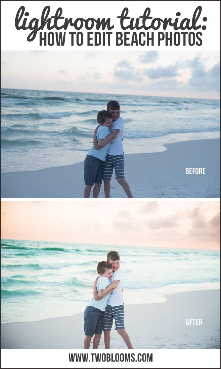 Editing Beach Photos In Lightroom, in less than 5 minutes! (it's easier than you think!) | Two Blooms Lightroom Presets