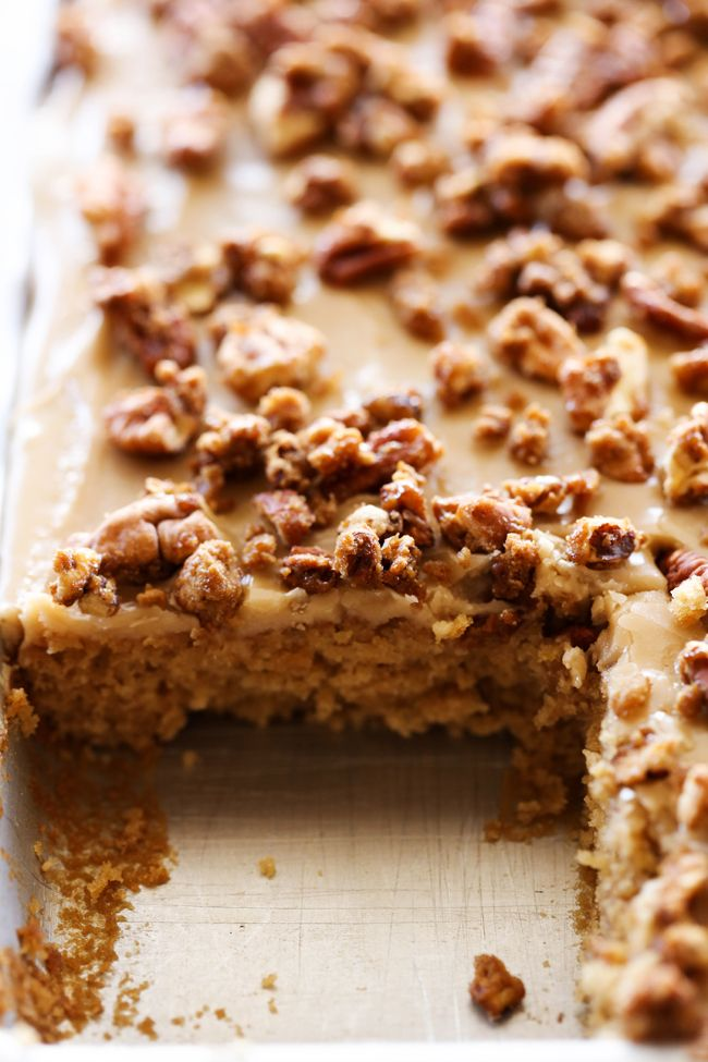 Caramel Praline Sheet Cake---Make it Gluten Free!!!!!!!!!!!!