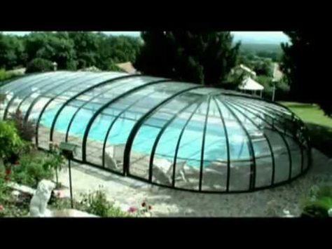 Paradiso Schwimmbadüberdachung Modell VENEZIA mit eMotion Fahrantrieb - YouTube