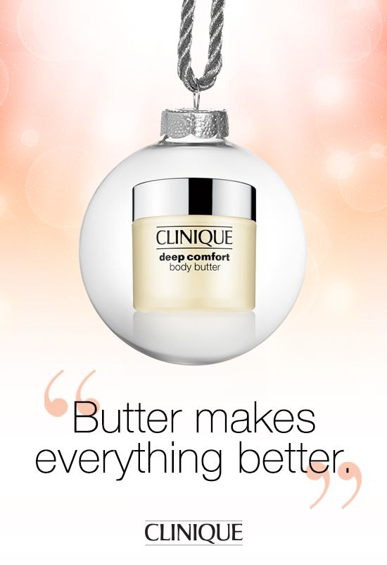 Indulge this #holiday season. #Clinique Deep Comfort Body Butter is perfect to give—to a friend or to yourself. #Gift #Beauty