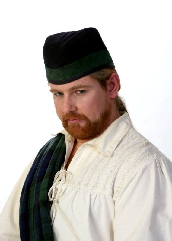 Leather Scottish Hat  Glengarry by TheBlondeSwan