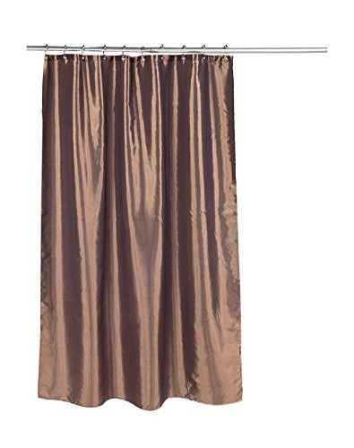 Park Avenue Deluxe Collection Park Avenue Deluxe Collection inch Shimmer inch Faux Silk Shower Curtain in Bronze