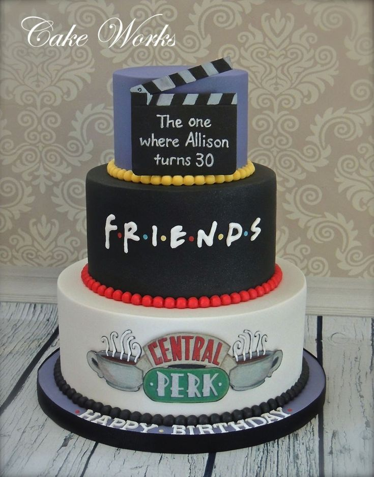 23+ Awesome Picture of 30 Birthday Cake . 30 Birthday Cake Friends Themed 30th B…  – birthday cake images