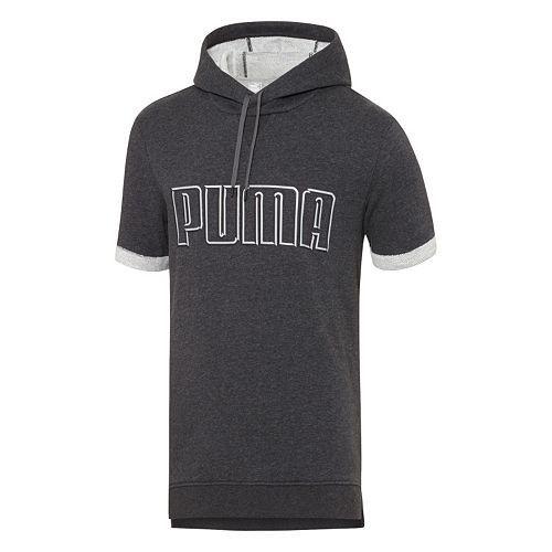 PUMA Short Sleeve Hoodie - Mens