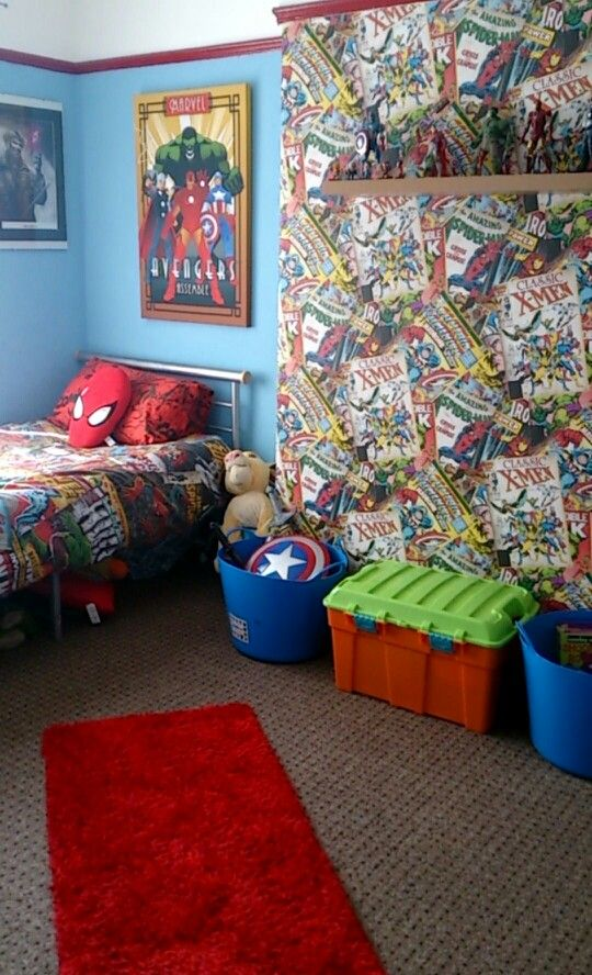 My sons perfect marvel bedroom24 best Marvel bedroom ideas images on Pinterest   Marvel bedroom  . Marvel Bedroom. Home Design Ideas