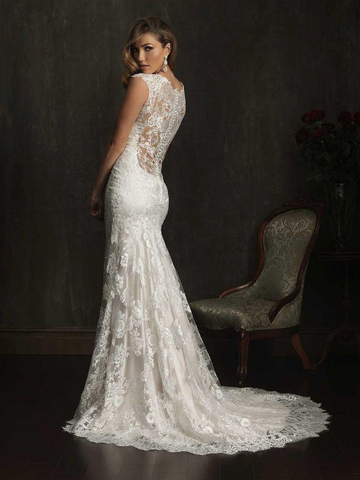 Lace back wedding dress uk 12