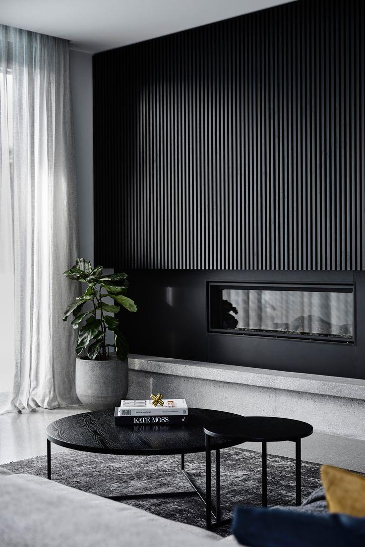 We designed bold compositions of black oak joinery…