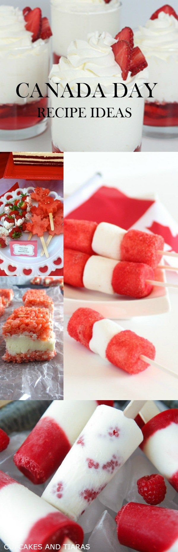 CANADA DAY RECIPE IDEAS. RED and WHITE super easy recipes that the whole family will love.