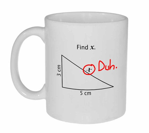 Find X mug  math problem funny white ceramic by NeuronsNotIncluded