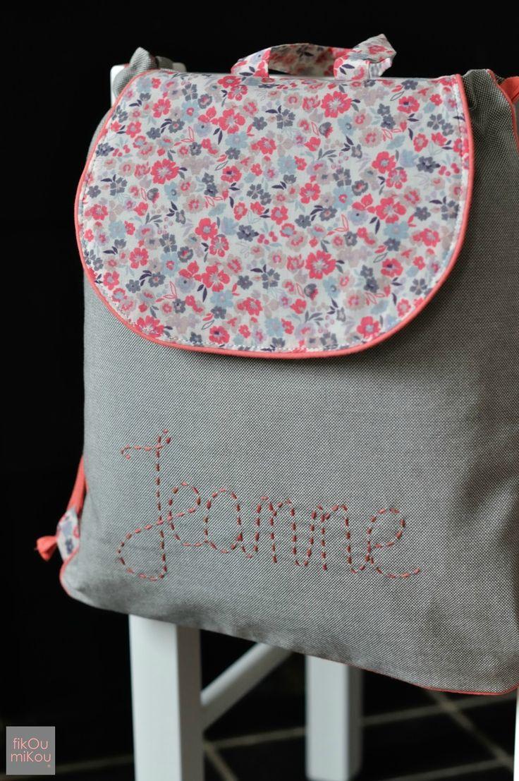 Les 102 meilleures images propos de sacs dos enfant for Malette couture pour fille