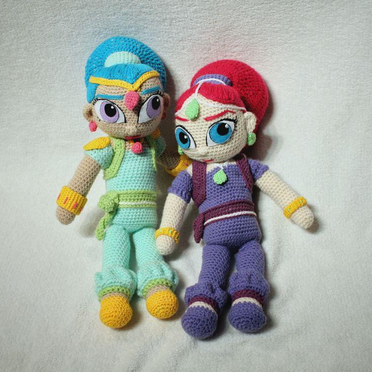 Amigurumi Shimmer and Shine  #amigurumi #amigurumis #shimmer #shine #cartoon #szydełkowe #doll #crochet #crochetlove #lalka #amigurumidoll