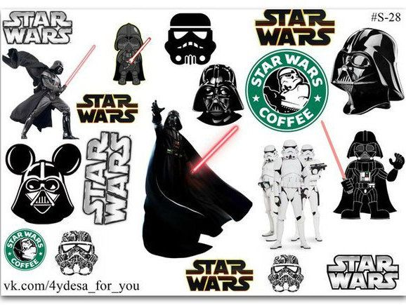 STAR WARS sticker sheet| Planner Stickers | Star Wars coffee| by topstickerdesigns on Etsy